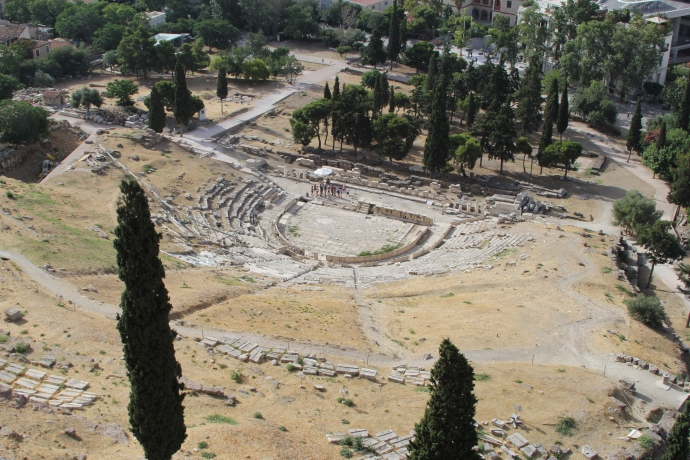 Theater of Dionysus from Acropolis