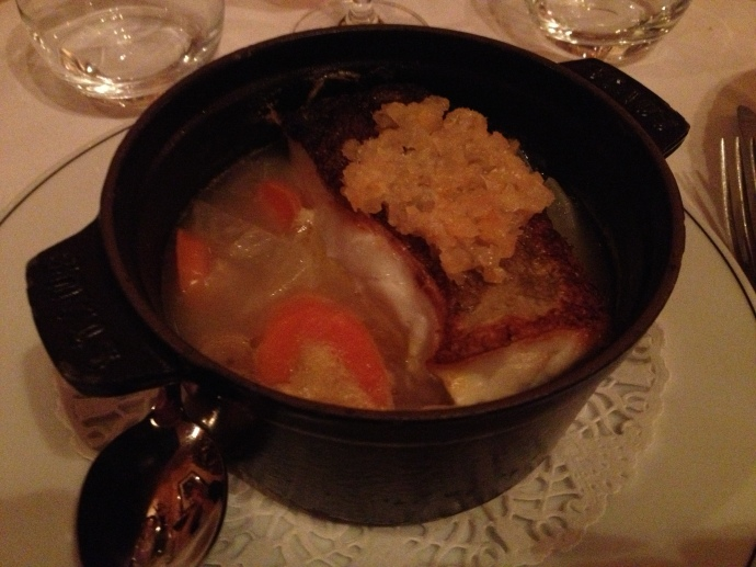 Cod in a ginger and lemongrass broth