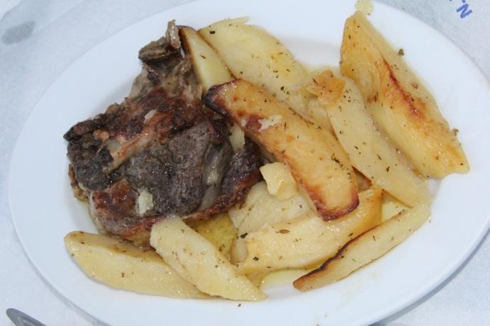 Lamb with potatoes