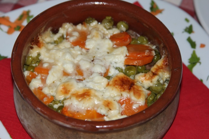 Stewed veggies and cheese