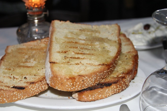 Toasted bread and oil