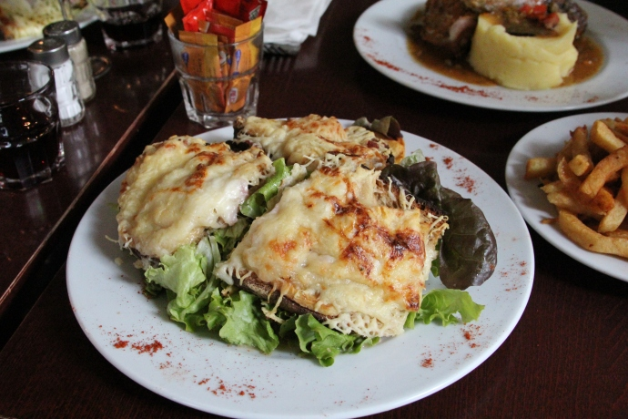 Incredible cheese melted on incredible bread.