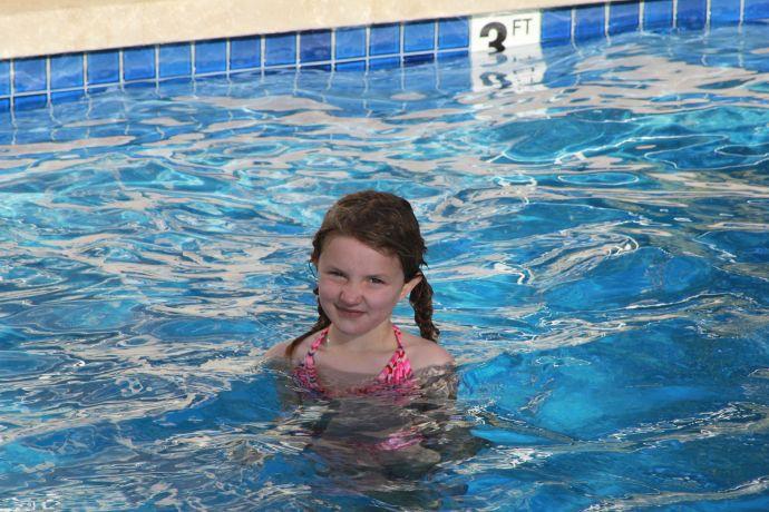 Yarrow in the pool