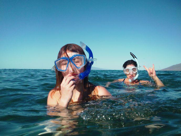 Tawny and Clara Snorkeling