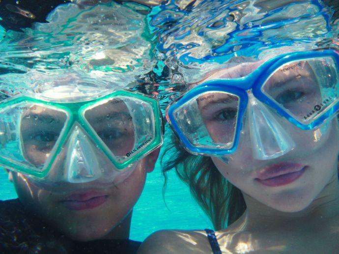 Cody and Clara Snorkeling