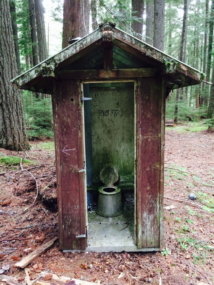 Scariest outhouse I've ever seen.