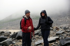 Zack and Lyn getting ready to hike the Glacier