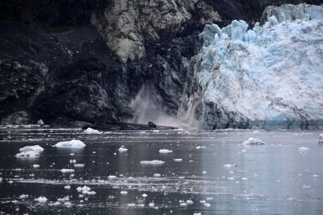 Glacial calving on Margerie Glacier