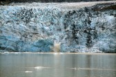 Calving on Lamplugh Glacier