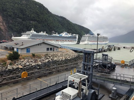 Ships in the Port of Skagway