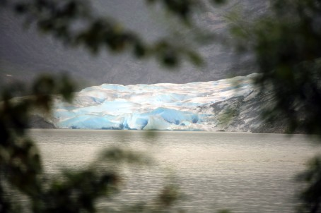 First glimpse of Mendenhall Glacier
