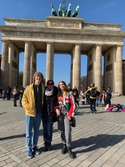 West, Tawny, & Clara in front of Brandenburg Gate